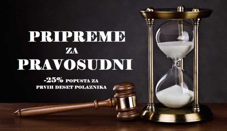 Pripreme za pravosudni – novi cilus – 21. 04. 2021.
