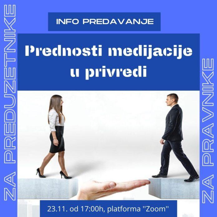 Info predavanje: Prednosti medijacije u privredi