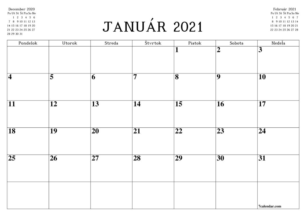 Poreski kalendar za januar 2021. godine